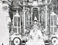 """Altar Ermita Virgen de la Carrasca. Blancas. Libro """"Blancas y su Virgen"""" (1954)."""